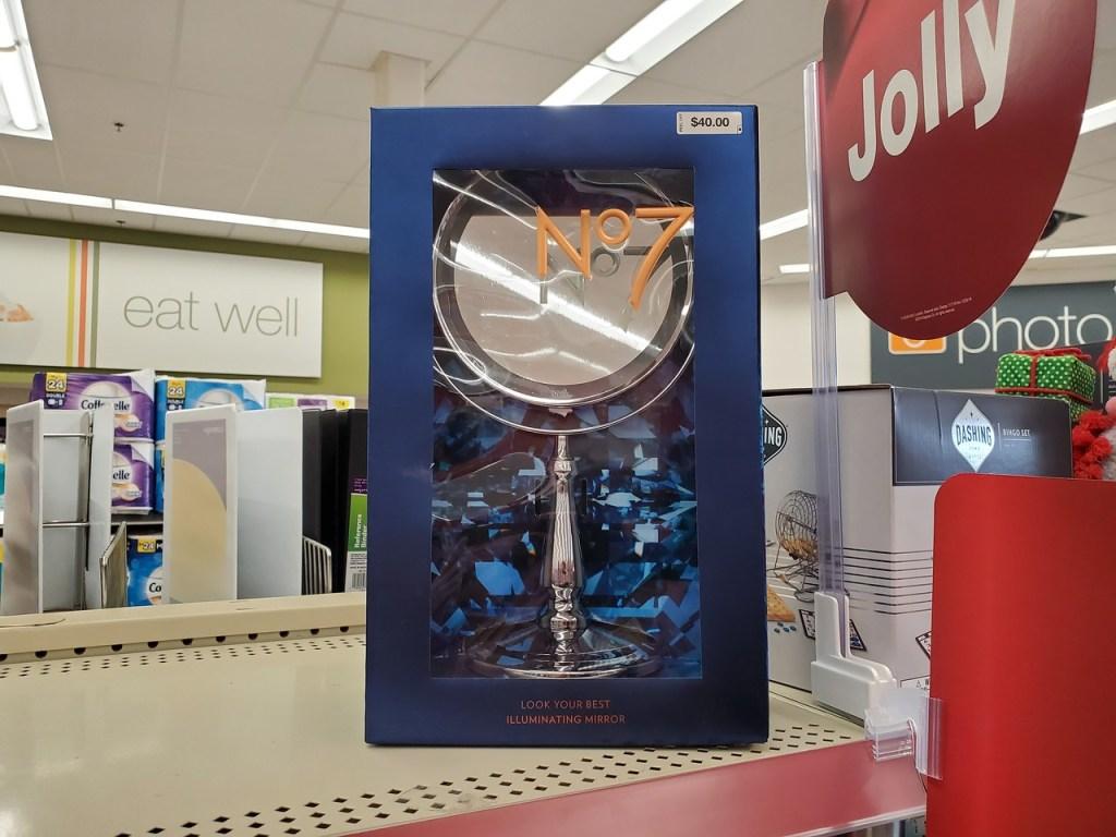 no 7 illuminating mirror on Walgreens Shelf