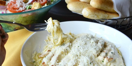 Up to 15% Off Entrées at Olive Garden (Dine-in Only) | Check Your Email