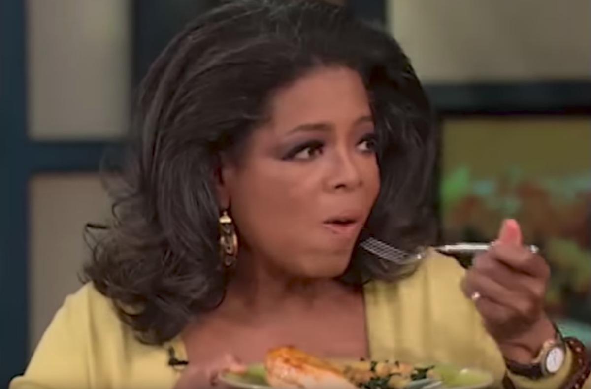 oprah tasting chicken