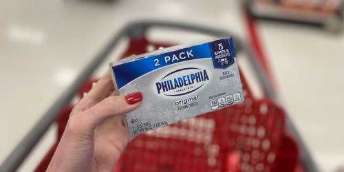 Philadelphia Cream Cheese 2-Pack Only $2 After Cash Back at Target | Just Use Your Phone