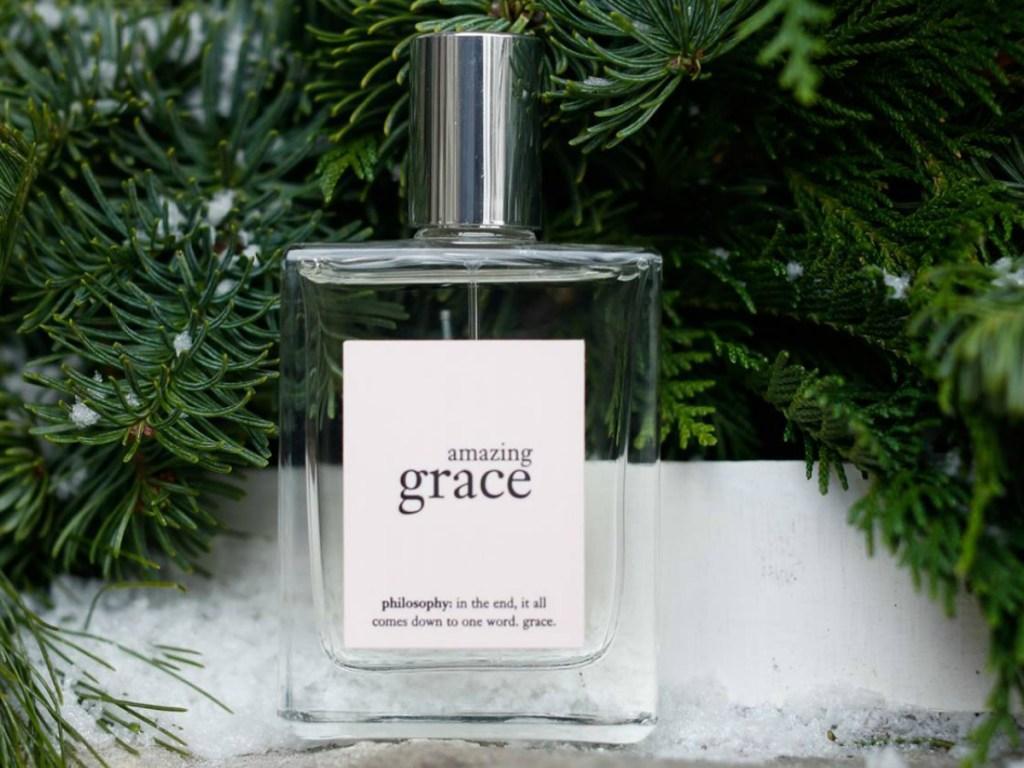 bottle of women's perfume new fir tree