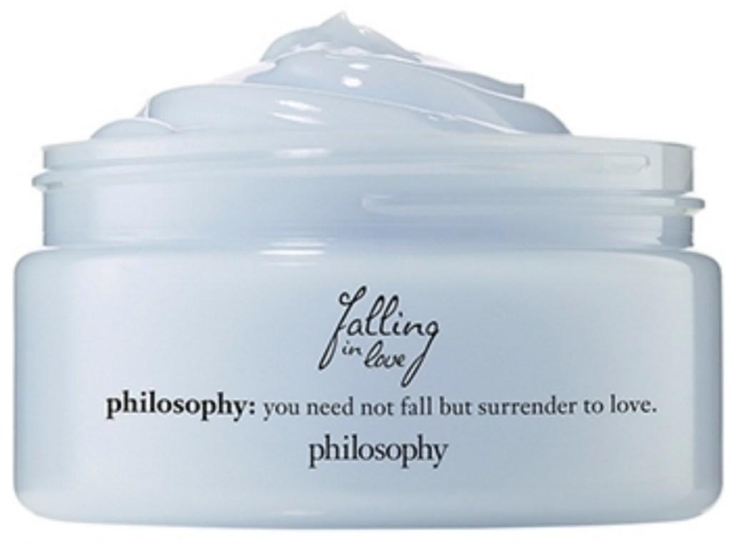Jar of light blue moisturizer