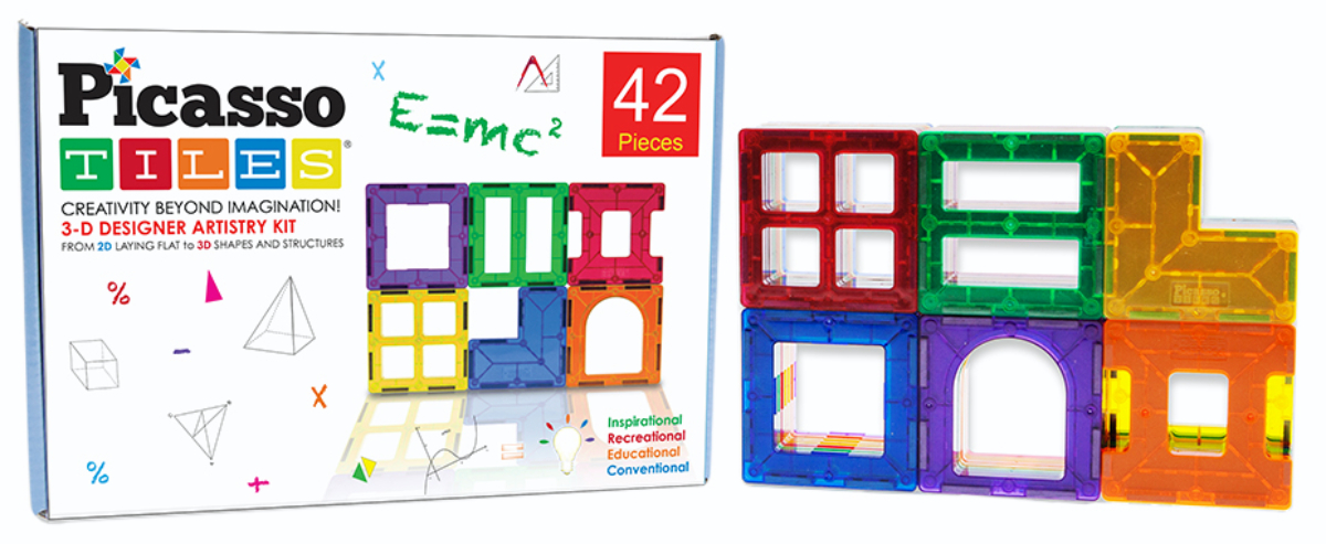 PicassoTiles 42-piece set in box