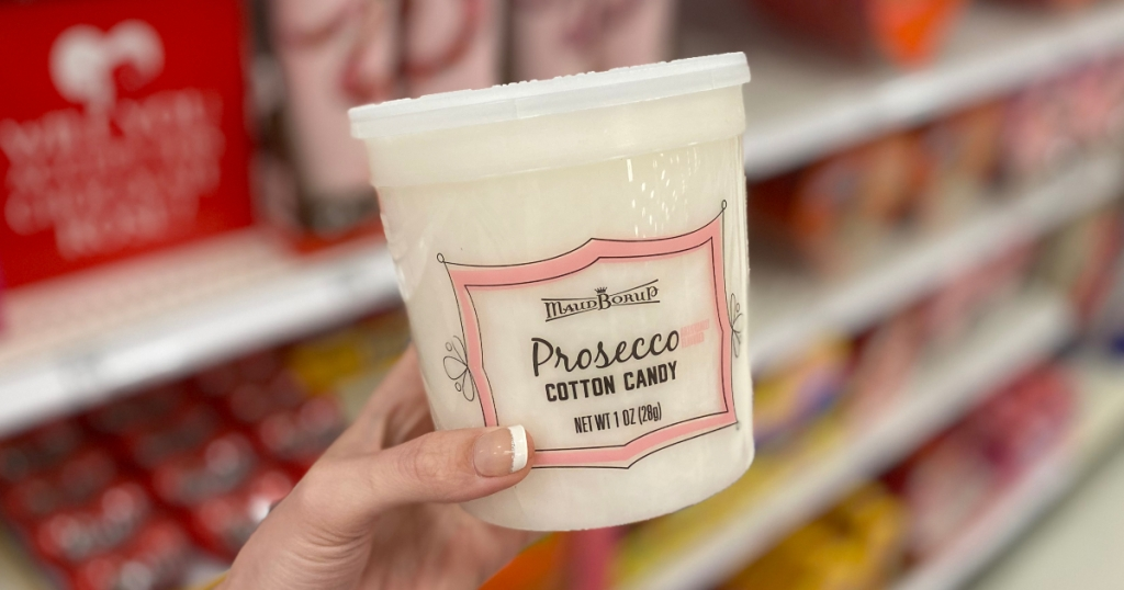 Prosecco flavored cotton candy at Target