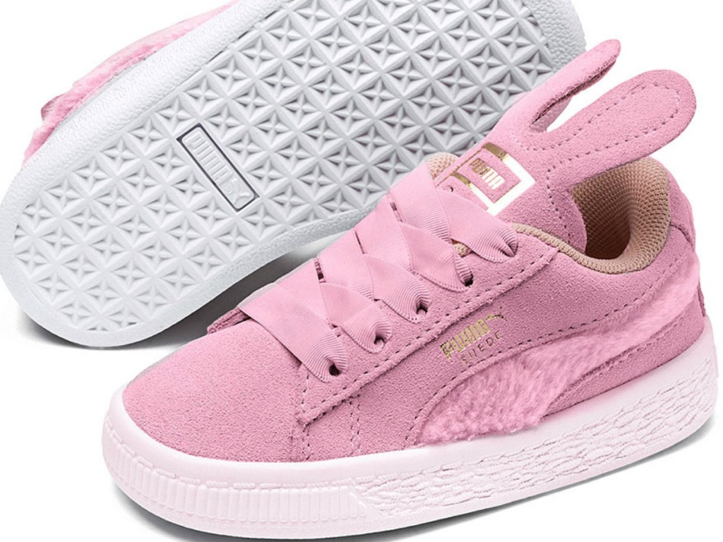 pink shoes with bunny ears for little kids