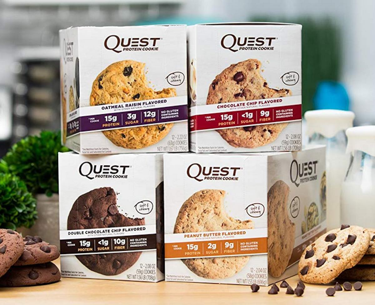 multiple boxes of quest protein cookies