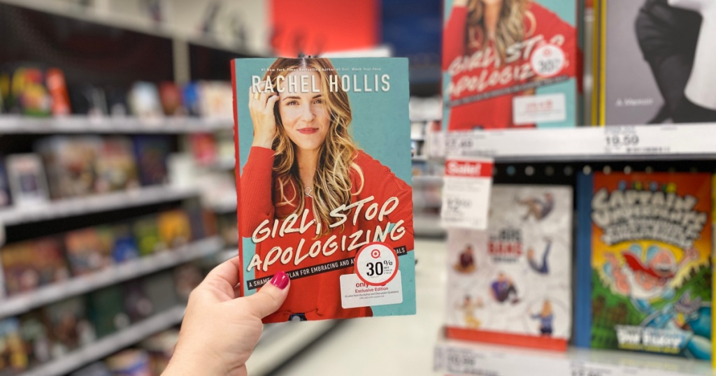 hand holding girl, stop apologizing book in store
