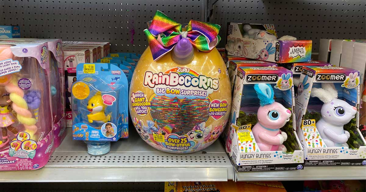 toys on shelves on clearance in a store