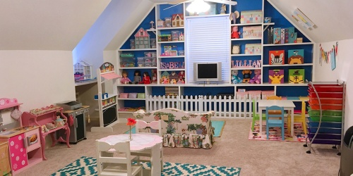 You'd Never Know this Adorable Play Space Was Created from a Limited Budget
