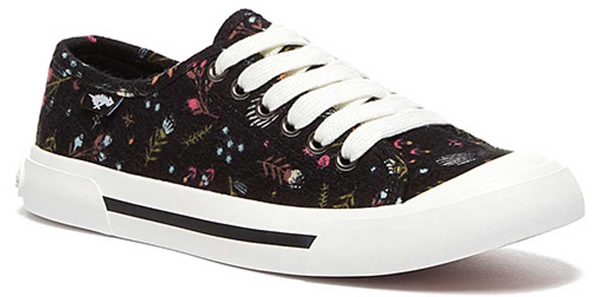 stock image of Rocket Dog Black Floral Jumpin Sneaker