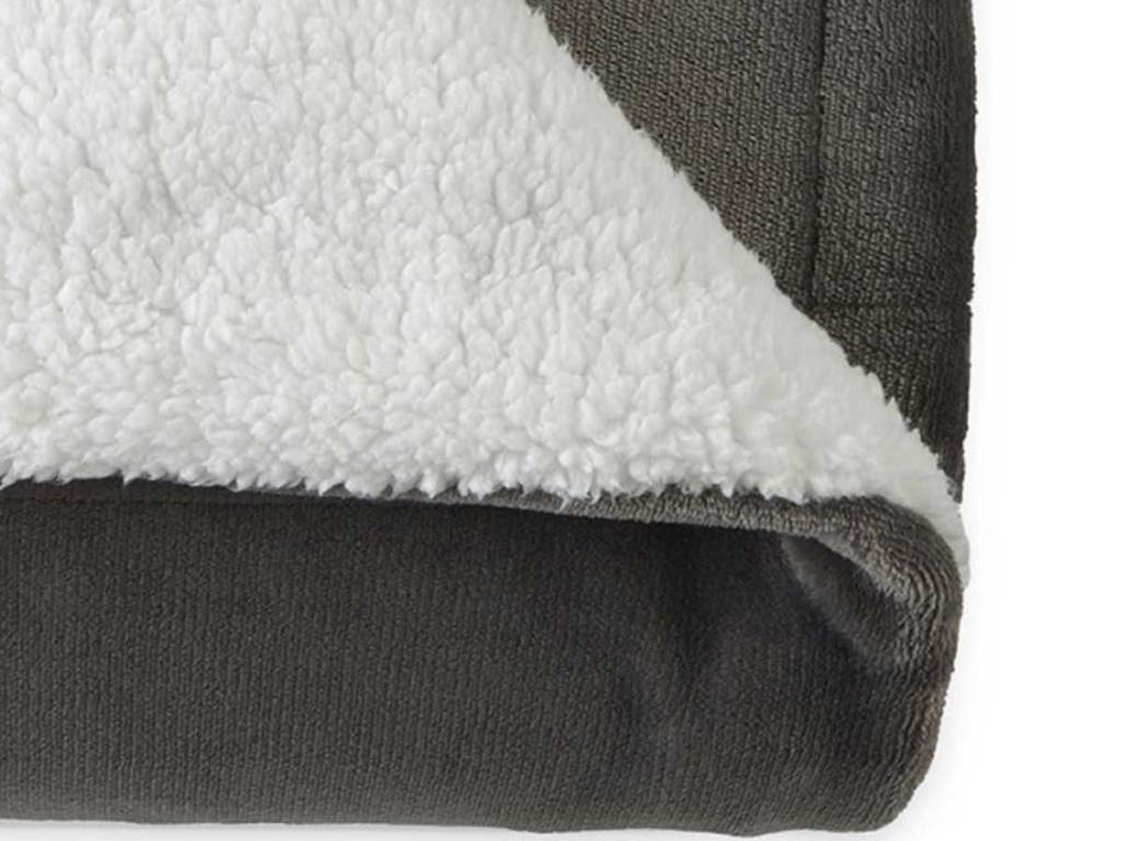 close up stock image of North Pole Trading Co Sherpa Reversible Throws