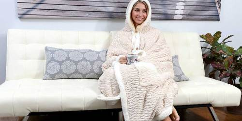 Hooded Snuggle Blanket Only $19.99 at Zulily | 18 Design Options
