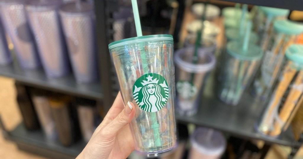 Starbucks mermaid tumbler with straw