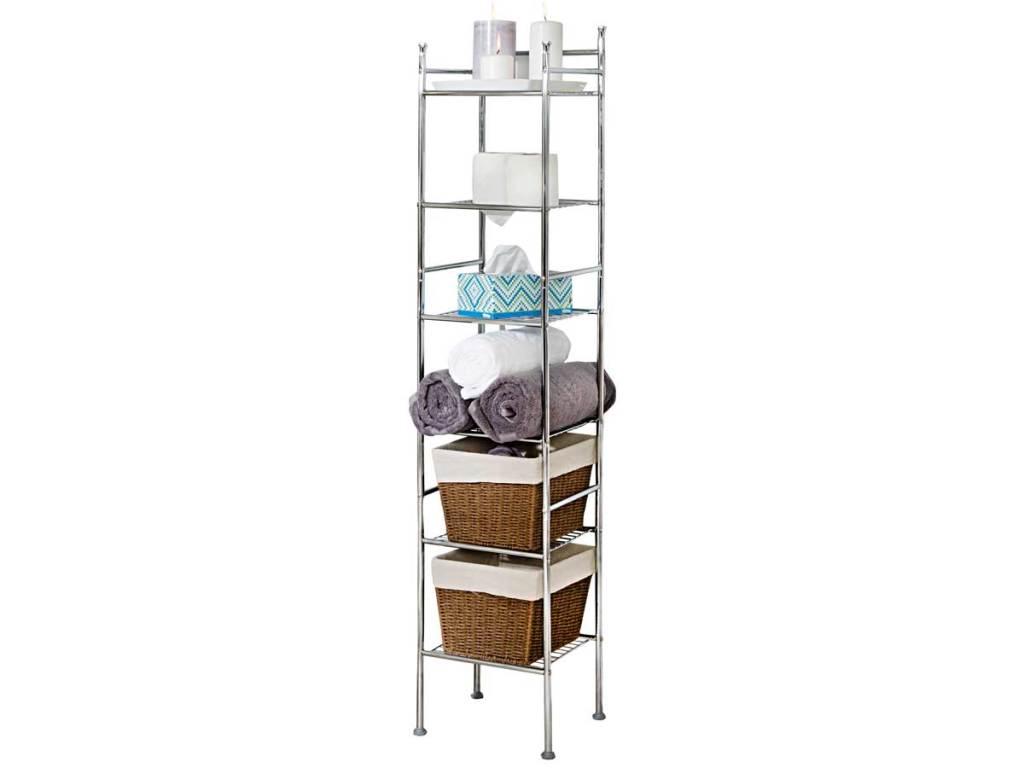 Honey-Can-Do 6-Tier Bathroom Storage Shelving Unit stock image