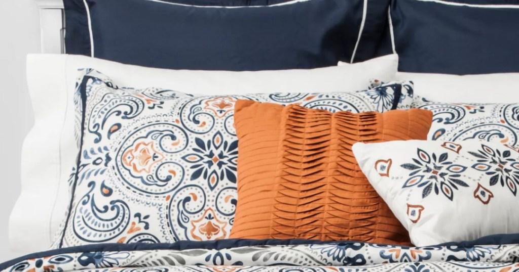 Target Medallion Opal Bedding Set on Bed