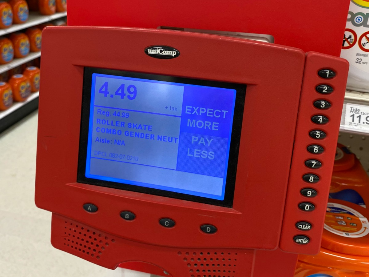 red price scanner in store
