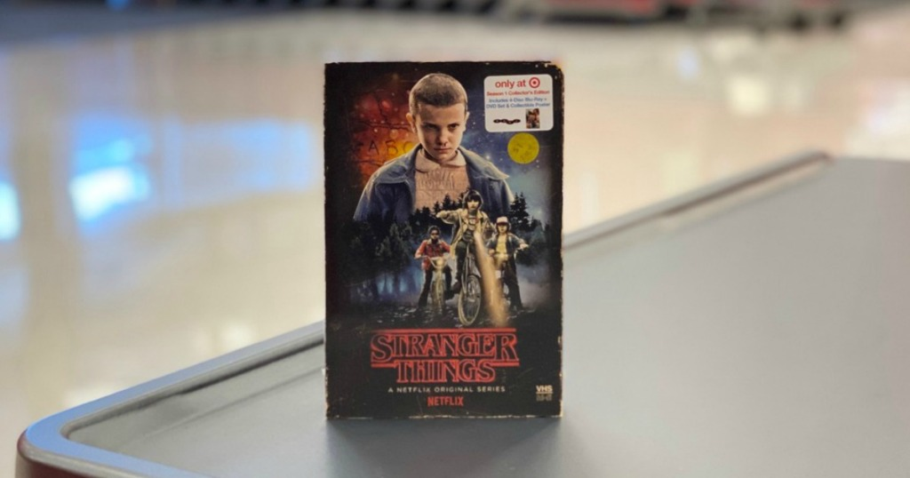 dvd on display in a store