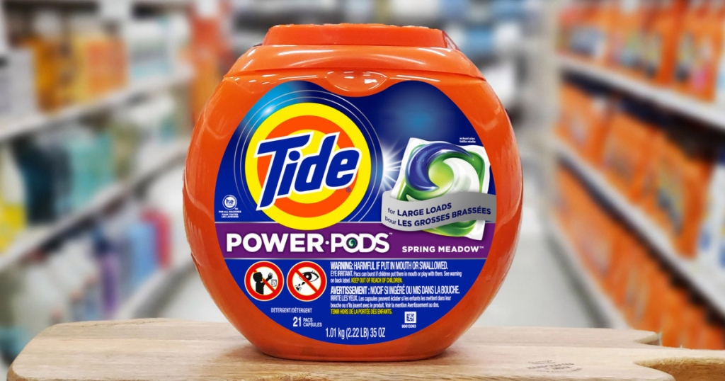 Tide Power Pods on display in store aisle