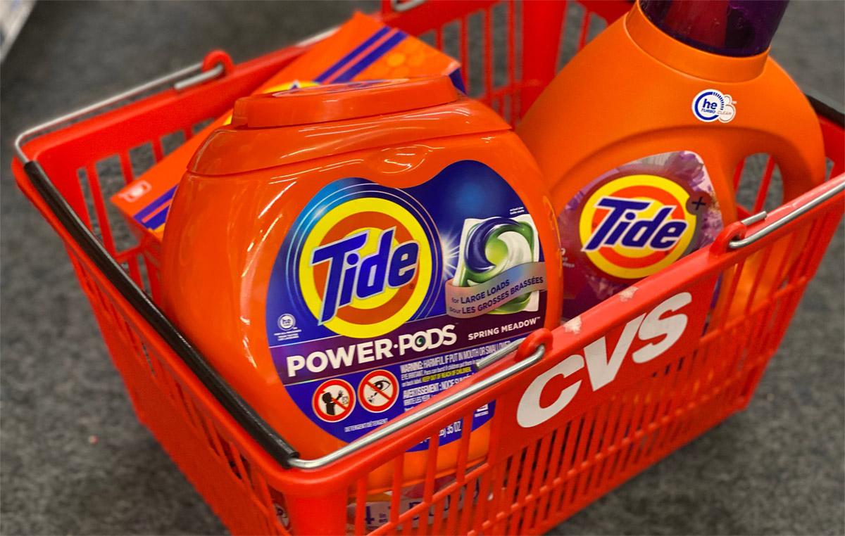 tide power pods in cvs basket