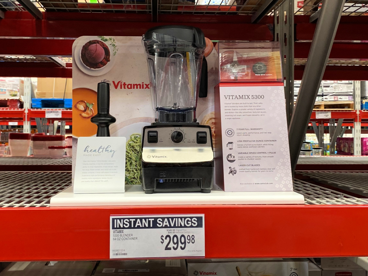 Vitamix Blender on shelf