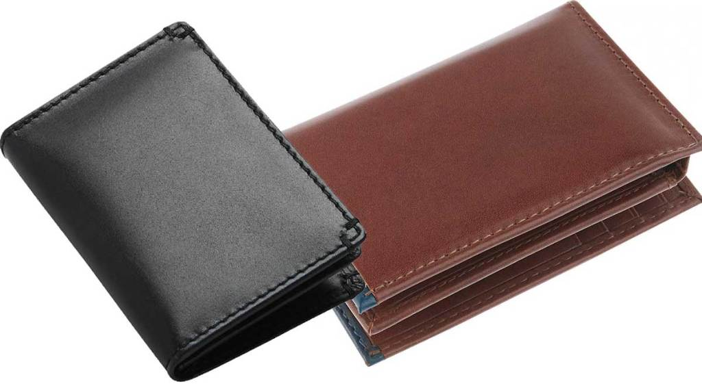 jos a bank men's leather wallets L-Fold in black and cognac
