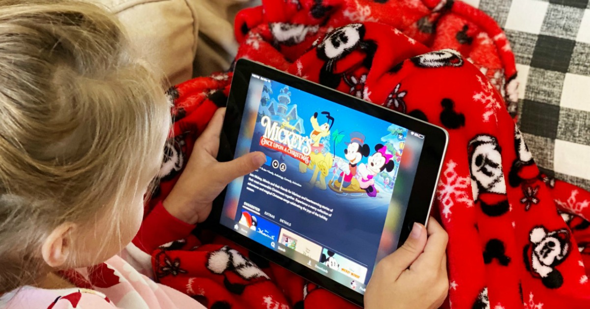 girl playing with an ipad