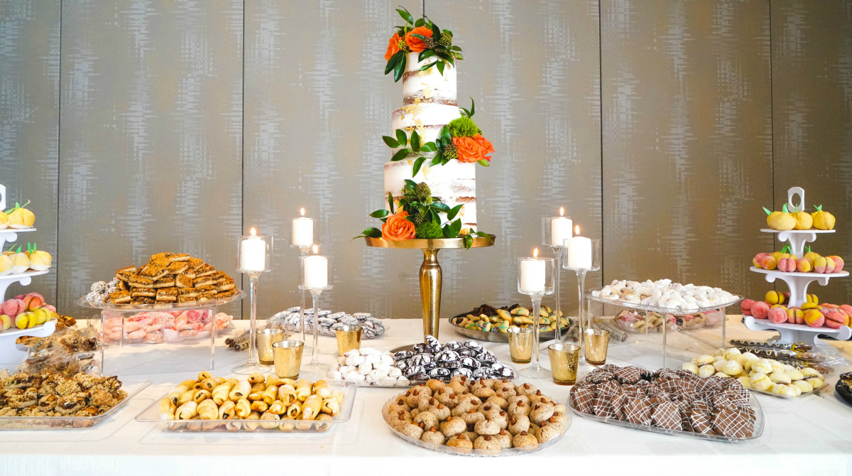 wedding food on table