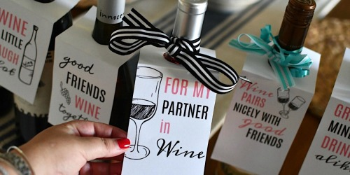 Gift Bottles of Wine with Our Free Printable Wine Tags