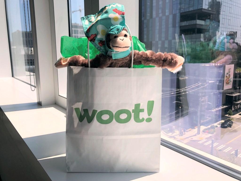 woot shopping bag monkey