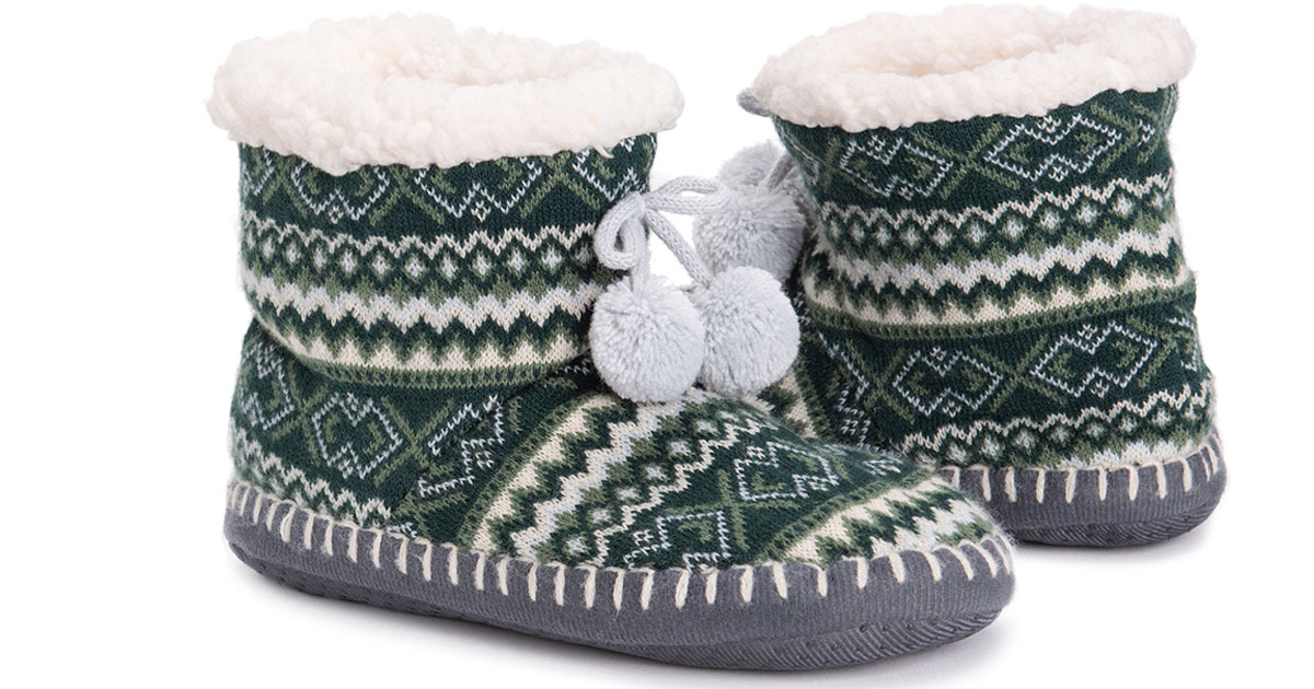 Muk Luks Women's Slipper Boots stock image