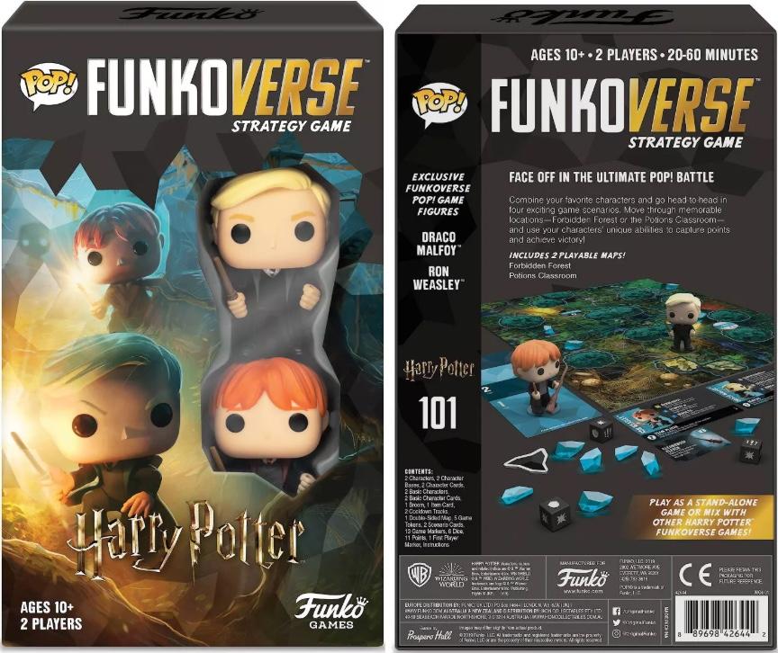 front and back view of childrens harry potter strategy game box