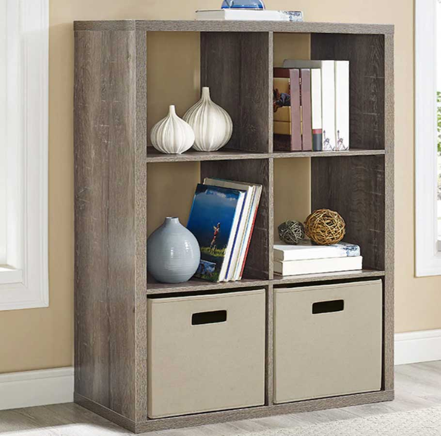 6-Cube Storage Cube Storage Unit shown in living area