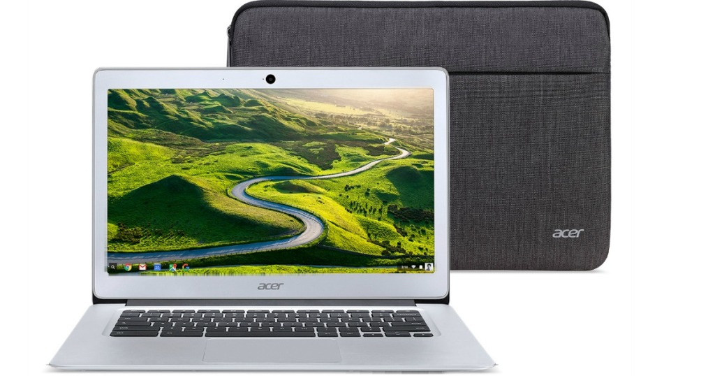Acer computer laptop with case