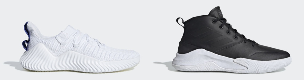 Adidas Shoes for men in white and black