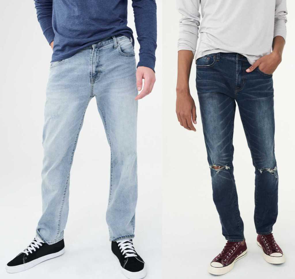 light wash and dark wash aeropostal jeans