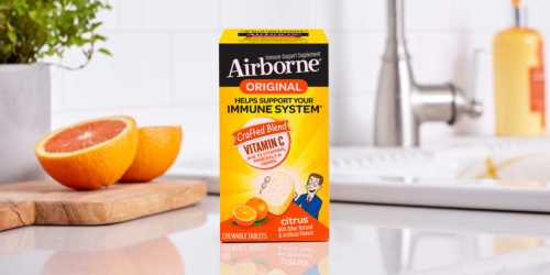 Airborne Chewable Tablets 116-Count Bottles from $16.37 Shipped on Amazon