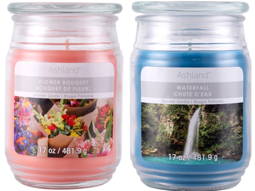 ashland flower bouquet and waterfall candles