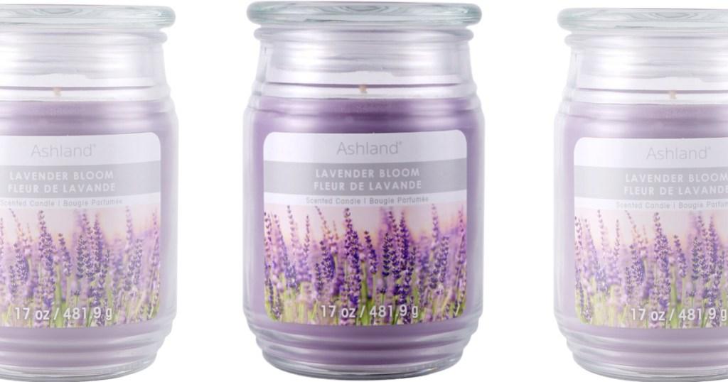 purple ashland lavender bloom candles