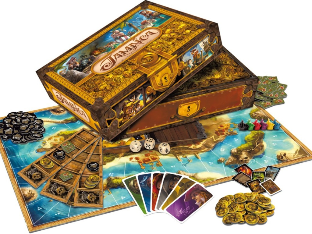 Jamaica board game box and contents