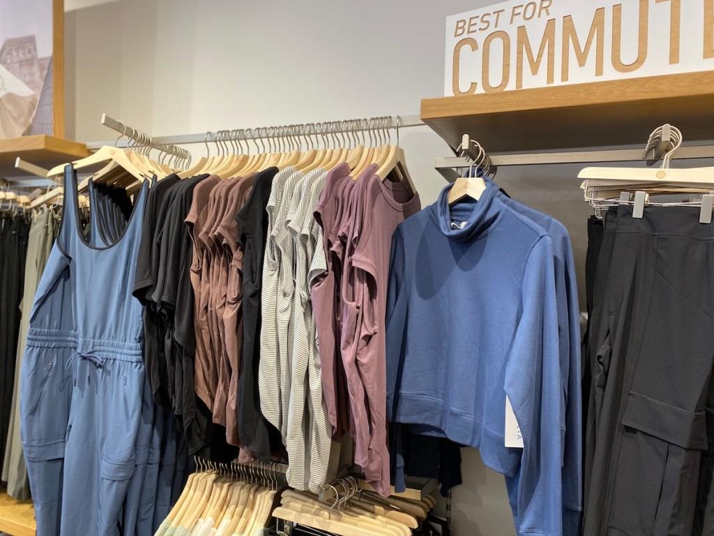 display of Athleta apparel at the store