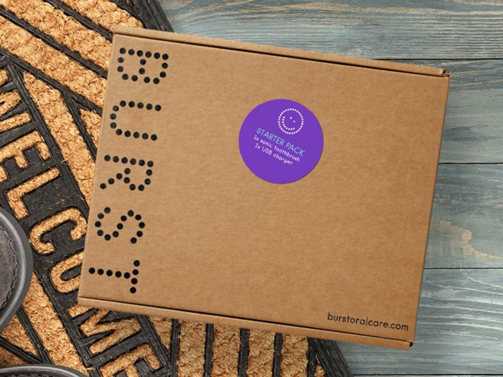 Monthly subscription box on Welcome mat