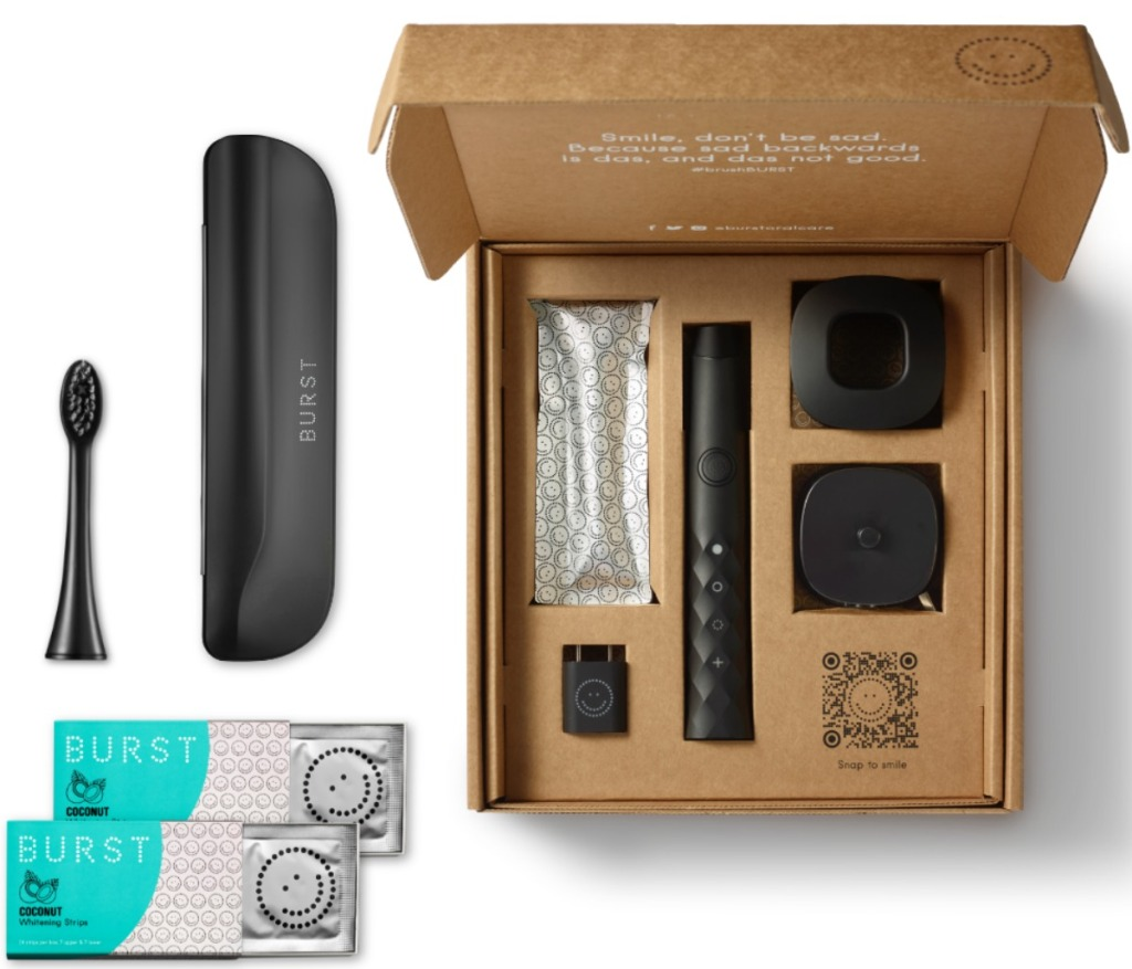 Toothbrush subscription box with extras and accessories