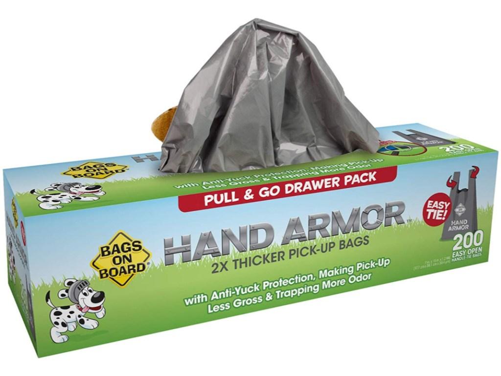 box of dog poop bags