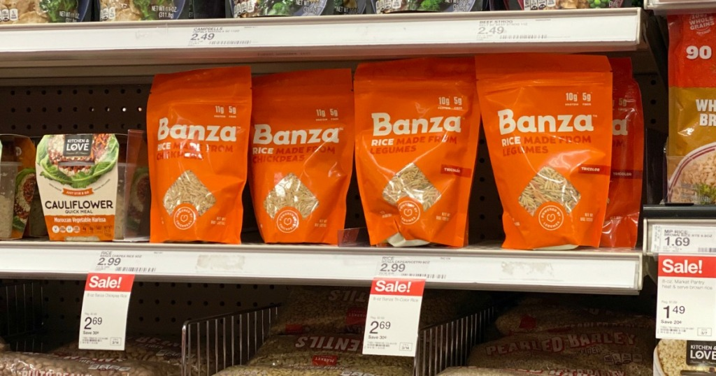 Banza Chickpea Rice on Target shelf