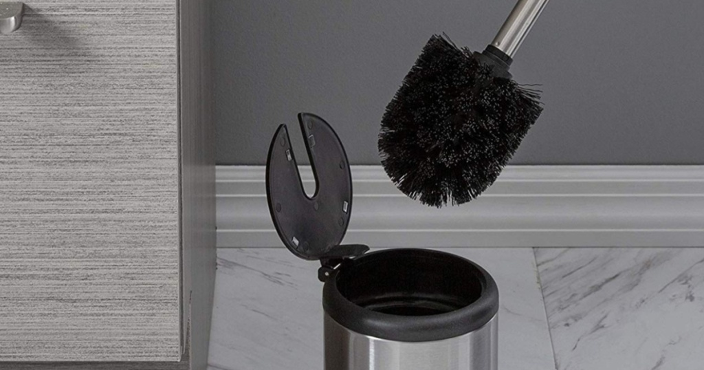 Toilet brush and canister