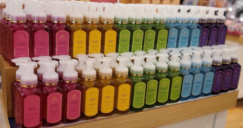 Bath & Body Works Hand Soap Display