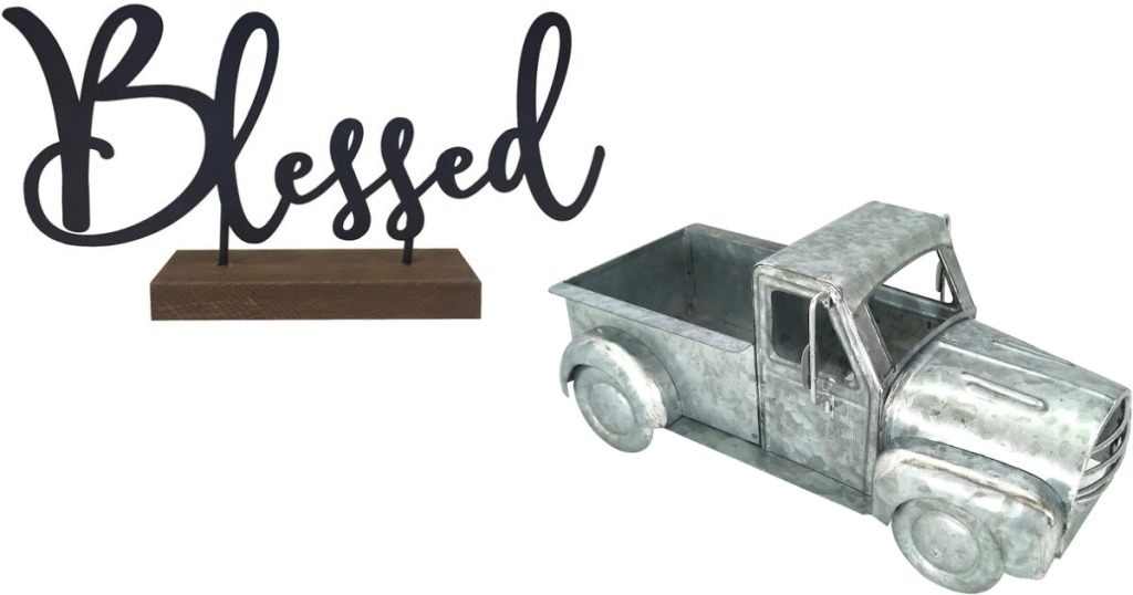 Blessed Sign and Metal Truck