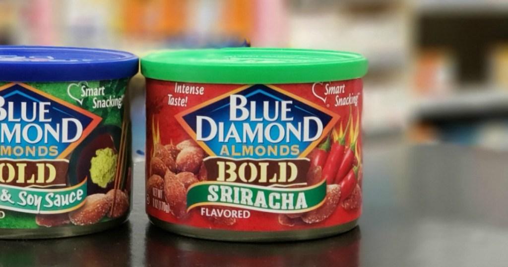 Blue Diamond Almonds Sriracha on store counter