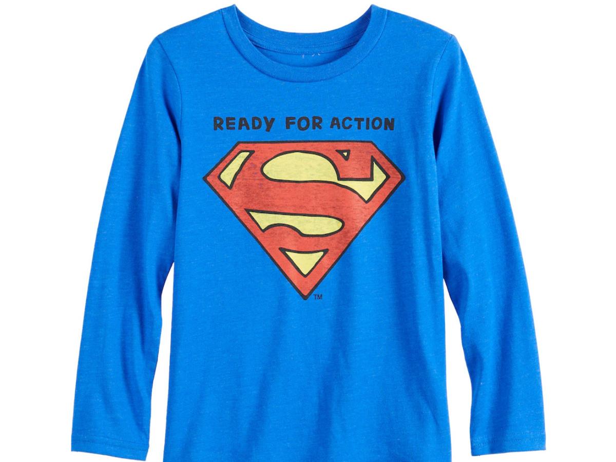 Boys superman graphic tee