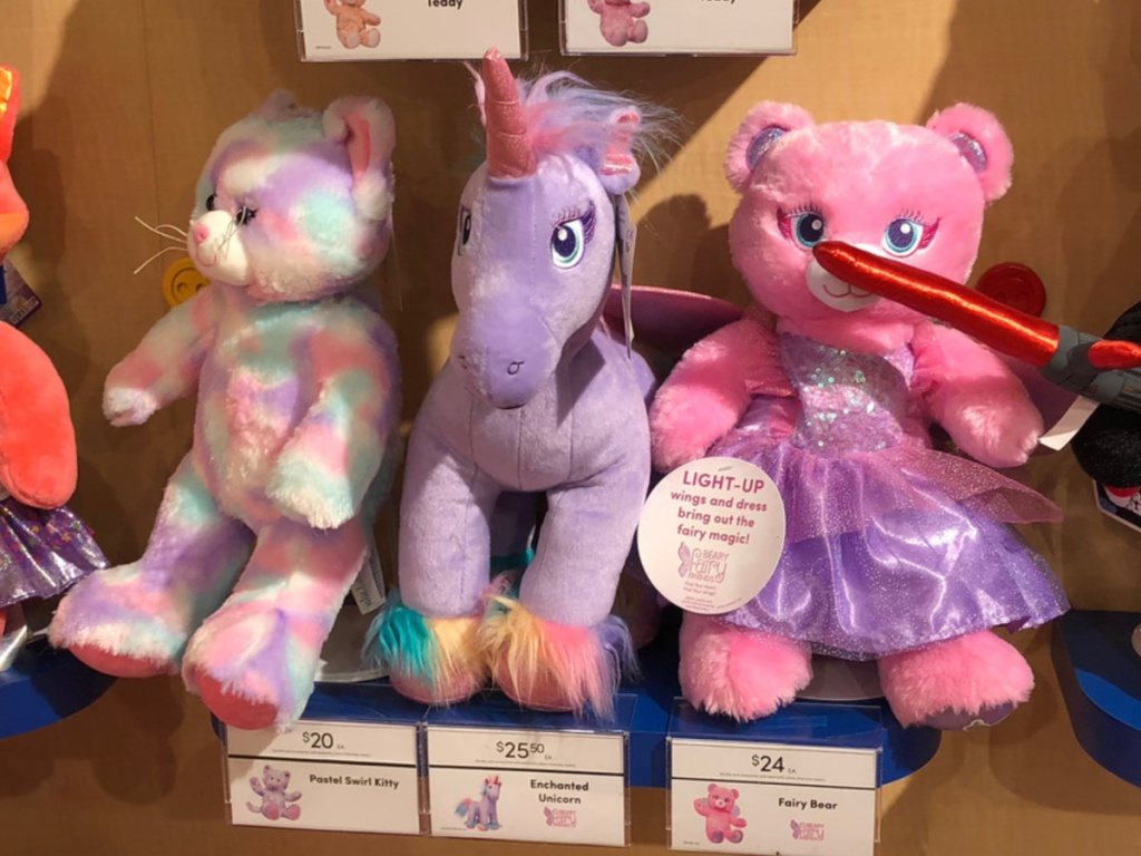 Build A Bear Stuffed Purple Unicorn